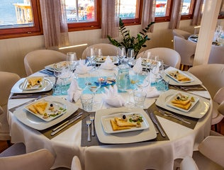Croatian Cruise dinning table