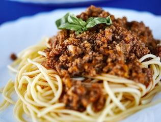 Spaghetti Bolognese onboard a Croatia Cruise