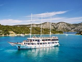Large boat in Makarska