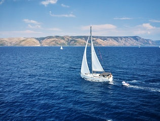 Yacht sailing in the Adriatic sea