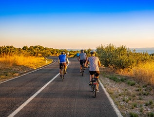 Cycle tour group in Croatia