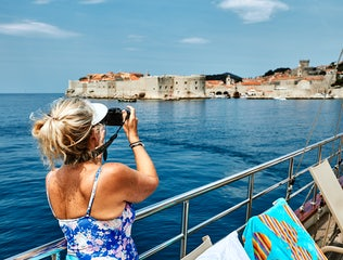 The Dubrovnik walls from a Cruise