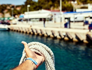 Hand with rope