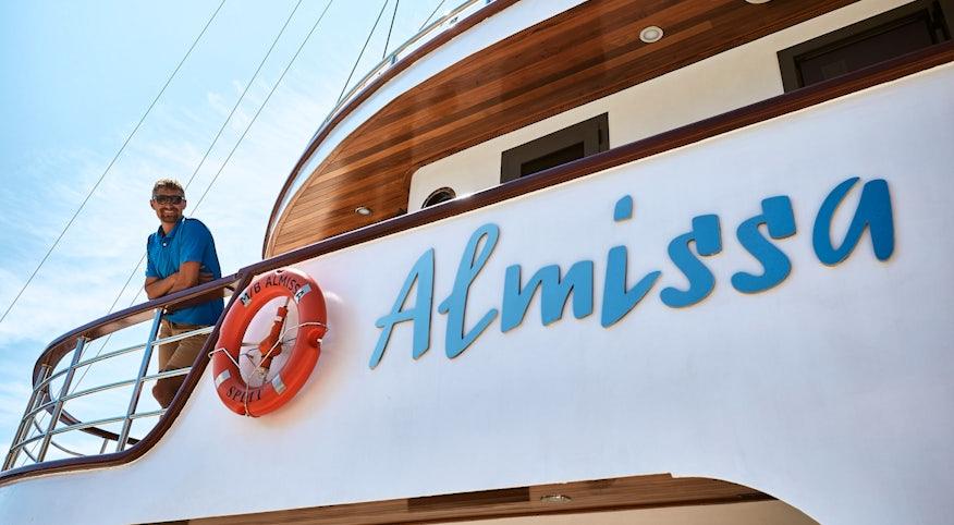 Captain Jure onboard Almissa