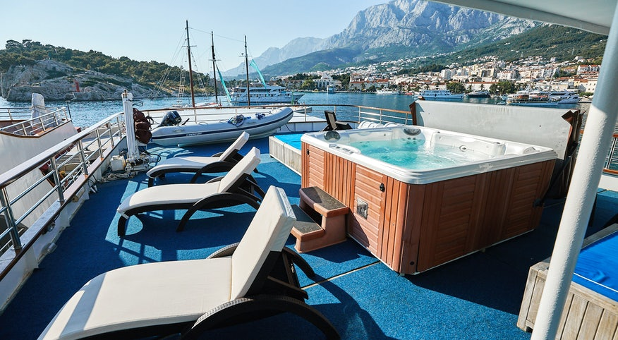 The onboard jacuzzi