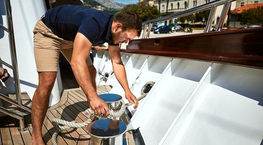 Sailors onboard Lupus Mare