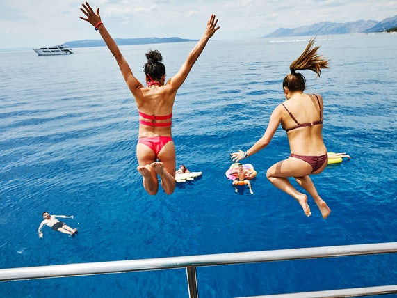 Jumping from boats