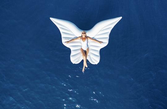 Woman on floatie