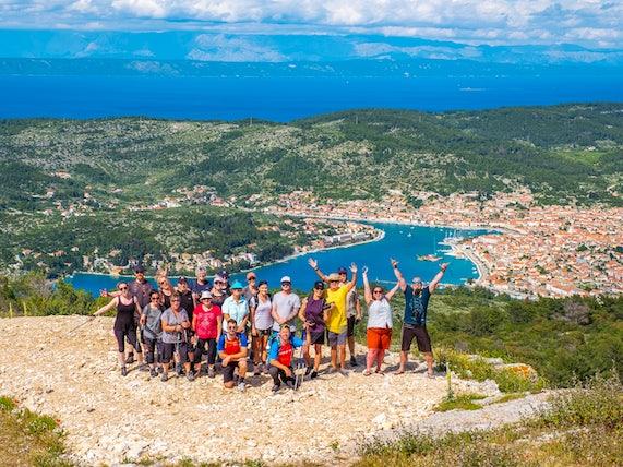 Hiking Group in Croatia, Sail Croatia