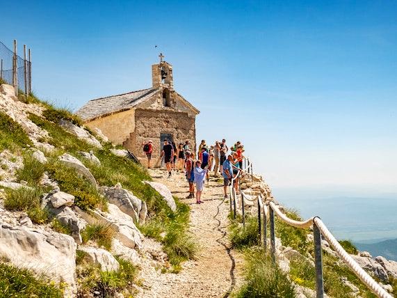 Sail Croatia Hiking to the top