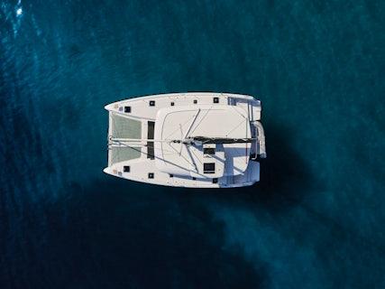 Drone photo of a yacht, Blackbird