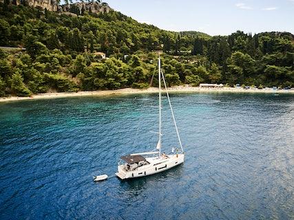 Libertine moored in a croatian cove