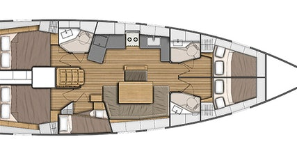 Oceanis 46.1 plan view