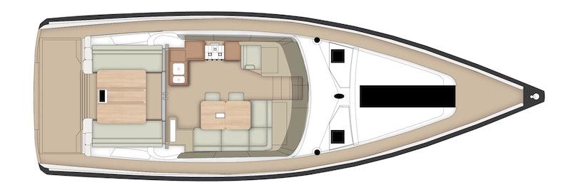 Above Deck Cabin Plan