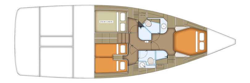 Lower Deck Cabin Plan