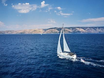 Marica sailing in the Adriadic Sea