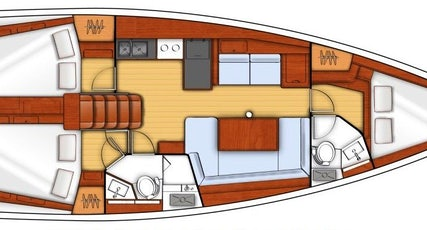 Oceanis 41 plan view