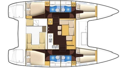Lagoon 400 S2 Plan view