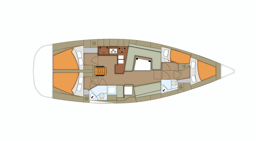 Premier Yacht Cabin Plan